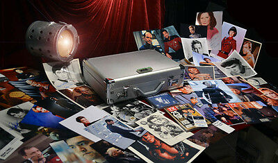 Huge STAR TREK Signed 70 Autograph Collection, COA UACC, Briefcase, Costume, CD