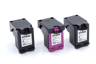 3x Cartuccia d'inchiostro nero + colore per HP Officejet: 3800 Series / 3830 / 4
