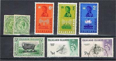 Falkland Islands (1912-62) - Selection of better stamps (for listing see text)