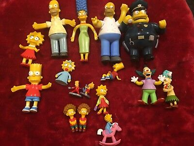 16 x  Simpsons figurines Vintage lot
