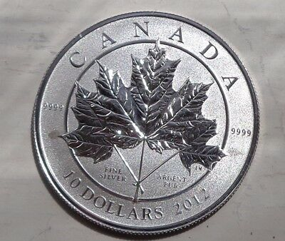 2012 half ounce Canadian Maple pure 9999 silver 1/2 oz