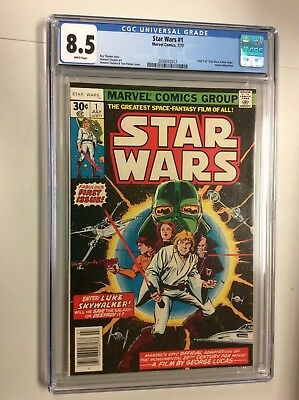 Star Wars (1977) #1 CGC 8.5 VF+ White pages
