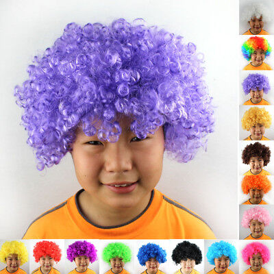 1 Pcs Dress Costume Party Afro Wig Curly Cosplay Funk Disco Halloween Clown Hair