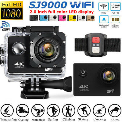 SJ9000 Wifi 1080P 4K Ultra HD Sport Action Camera DVR DV Waterproof Camcorder UK