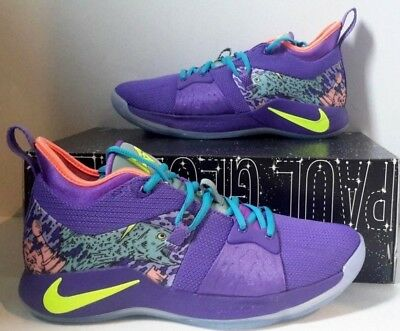 super popular 52e3b 155bc Nike PG 2 MM Mamba Mentality Cannon Purple Venom Paul George Size 8 AO2986- 001