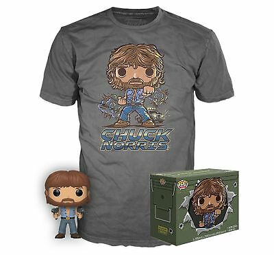 Funko Pop Chuck Norris #673 T Shirt Box Exclusive Limited Edition Small In Stock