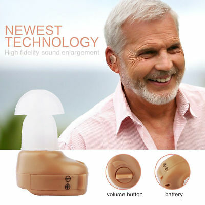 Small In Ear Invisible Best Sound Amplifier Adjustable Tone Hearing Aids Aid