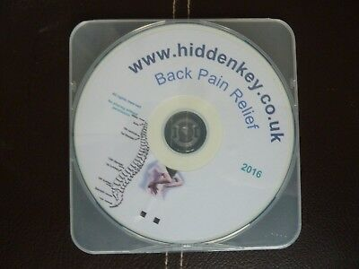 Somatic Hypnotherapy Hypnosis CD BACK PAIN RELIEF to help relieve hypnotism