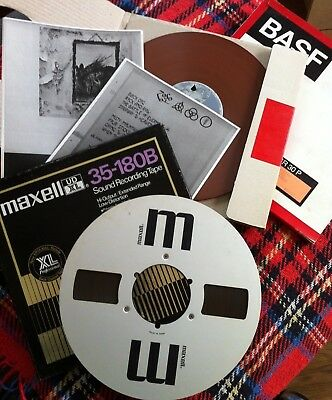 """Reel to Reel 15ips 2-Track Mastertape-Copy """"Led Zeppelin IV"""" 38cm/s maxell UD-XL"""