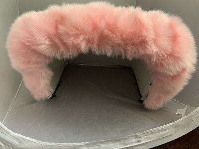 Hood Fur Trim for Silver Cross Kensington, Balmoral, Dolls Coach Pram  - PINK