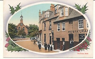 Postcard Scotland Ayrshire Beith The Cross street scene unposted