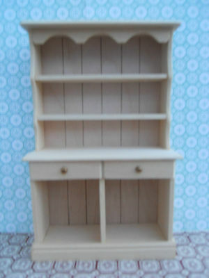 Dolls House Hand Made Miniature Furniture In 1/12 Scale Small Kitchen Dresser