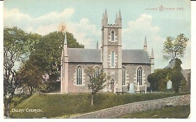 Postcard Scotland Ayrshire Dalry Church posted 1912
