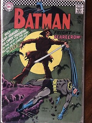 Batman #189 Feb 1967 Issue Unofficial Grade FN DC Comic 1st Silver Age Scarecrow