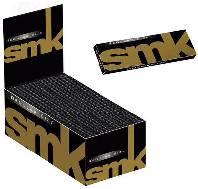 Full Box 24 SMK Medium Size Rolling Papers With Filter Tips