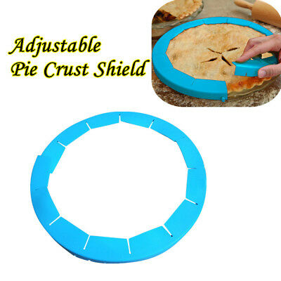 Adjustable Silicone Pie Crust Shield Silicone Fit 8.5-11.5Inch Rimmed Dish 2019*