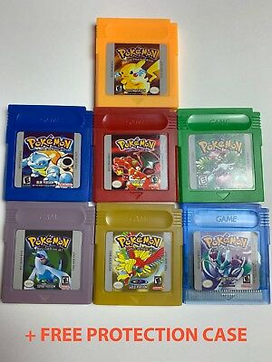 Pokemon Yellow / Red / Blue / Green / Silver / Gold / Crystal for Gameboy Color