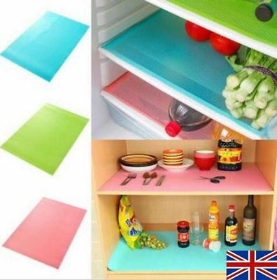 4pcs/Set Easy Clean Kitchen Antibacterial Cabinet Pad Anti Slip Fridge Liner Mat