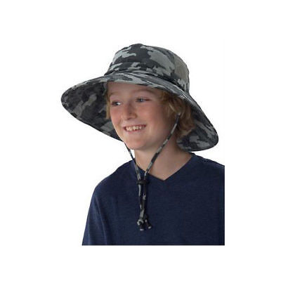 2f6fdaa6f4e Junior Booney Sun Protection Zone Kid Hat 50+ UPF Camoflauge Ages 6+  Lightweight