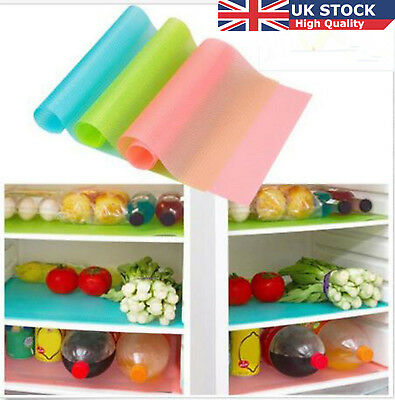 1/4PCS Kitchen Antibacterial Pad Anti Slip Dustproof Fridge Liner Mat Easy Clean