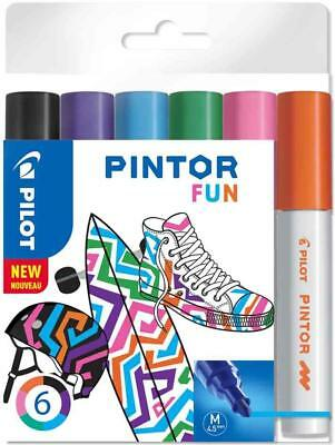 "[Ref:517436] PILOT Marqueur à pigment PINTOR, medium, set de 6 ""FUN MIX"""