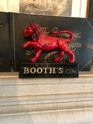 Vintage Large Booths Gin Red Lion