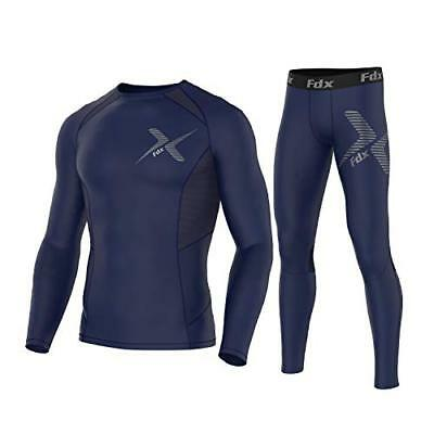 FDX Mens Power Pro Compression Base Layer Under Gear Compression Top & Leggings