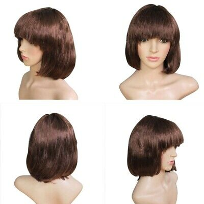 Cheap BOB Short Straight Wig Girls Party Cosplay Fancy Ball Wigs Hairpiece chj