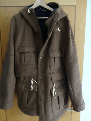 Barbour Mens Wool Shackleton Coat Heritage Collection