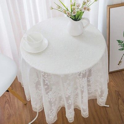 LACE WHITE SQUARE TABLE TOPPER DOILY SHEER LIGHTHOUSE 42 X 42 WTC739