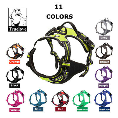 Truelove Dog Harness No-Pull Strong Adjustable Reflective XS S M L XL 5 Colours