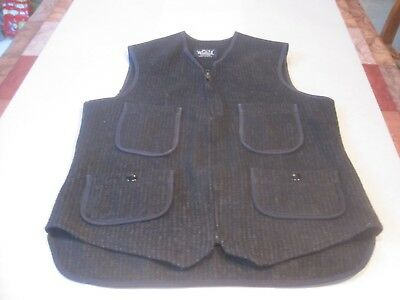 Woolrich Men's XS Wool Vest Dark Gray. Full Zip. 4 Front Pockets