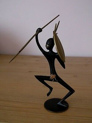 Hagenauer Bronze African Warrior signed