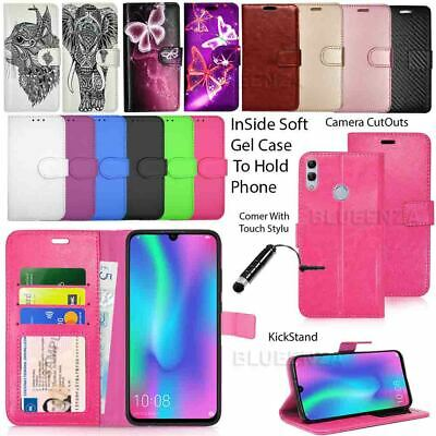 For Huawei P Smart 2019 -New Wallet Leather Case Flip Cover Book+ Protector Film