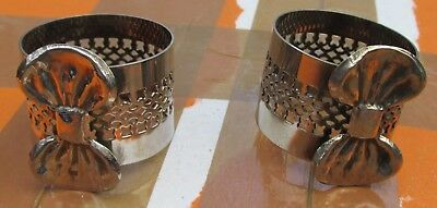 Pair Silver-Plated Napkin Rings