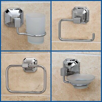 Traditional Bathroom Accessories Set Toilet Roll Holder Soap Dish Towel Ring Bar