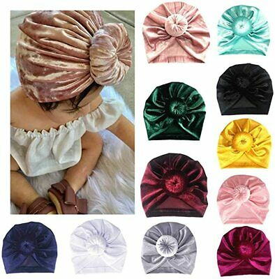 Baby Toddler Knot Turban Head Wrap Hat Velvet Sretch India Ear Cap Winter Warmer