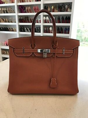56afb67263d6 Stunning Rare Gem! Hermes Vache Liegee Birkin 35 Authenic Orange With Box    Bag