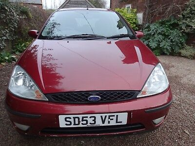 Ford Focus 1.8 Tdci 5 door hatchback 2003 Red