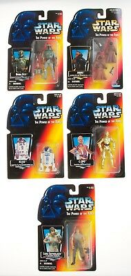 Lot of 5 STAR WARS POTF 2 Red Card Action Figures