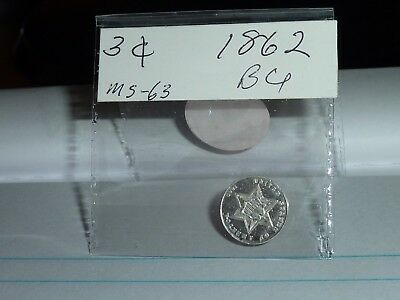 1862 3Cs Three Cent Silver Type Coin