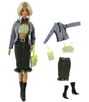 1 Set Fashion Handmade Doll Clothes Outfit for 11.5 in. 12 in. Doll L43