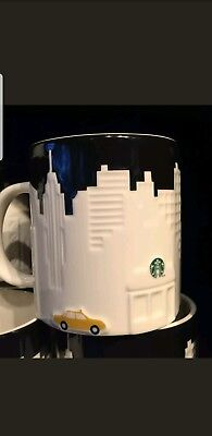 New Starbucks Coffee New York City Embossed TAXI Relief Mug  Series 2012