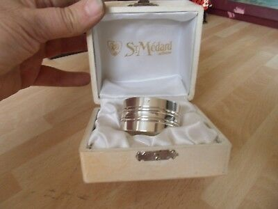Boxed Celtic Napkin Ring  St Medard  Stamped To Front
