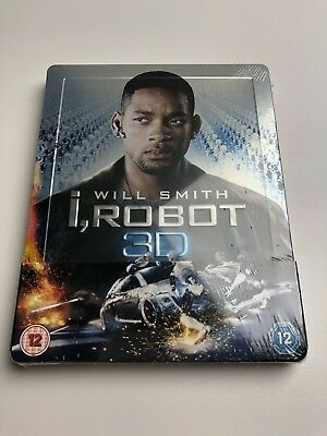 I ROBOT 3D Blu-Ray SteelBook Zavvi UK Exclusive Limited Edition OOP New Sealed
