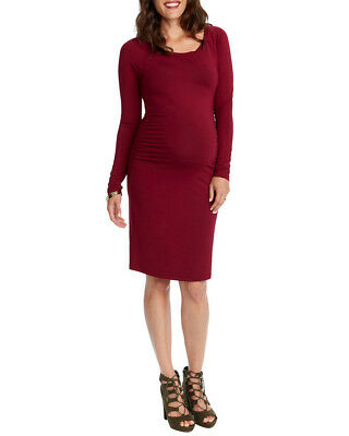 Rosie Pope Womens  Maternity Long Sleeve Fitted Dress, L