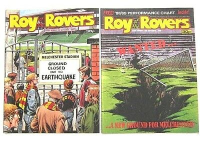 2 x ROY of the ROVERS COMICS. SEPTEMBER 1988. BILLYS BOOTS, JIMMY, GOALKEEPER