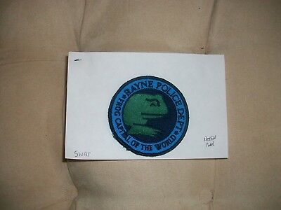 Rayne Police Louisiana Frog Capital Of The World Police Patch Used Swat