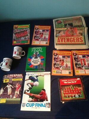 football programmes liverpool Mugs Fa Cup Manchester United