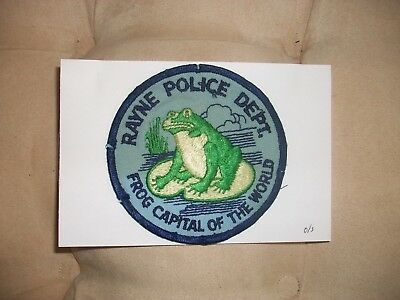 Rayne Police Louisiana Frog Capital Of The World Police Patch Used Old Style